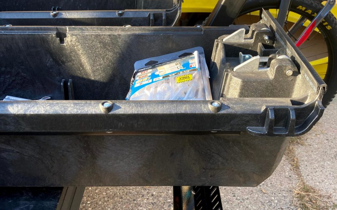 ALTA bike rack with Decked truck bed drawers